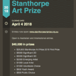 Stanthorpe Art Prize Entires open!